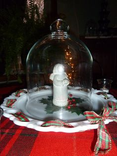 Christmas cloche angel