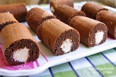 Шоколадное пирожное с творожно-кокосовым кремом…