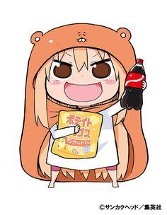 Accompanying this week's issue of Young Jump and the release of volume four is news that Head Sankaku's comedy manga Himouto! Umaru-chan is slated to be adapted into anime. Anime Kawaii, Anime Chibi, Anime Manga, Anime Art, Himouto Umaru Chan, I Love Anime, All Anime, Manga Yuri, Otaku