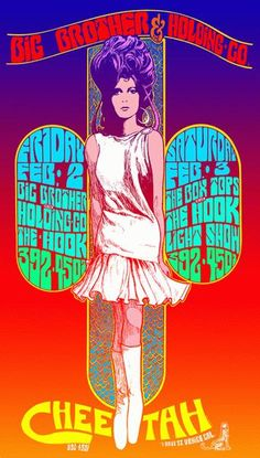 Poster for Big Brother & the Holding Co. (w/ Janis Joplin), 1969