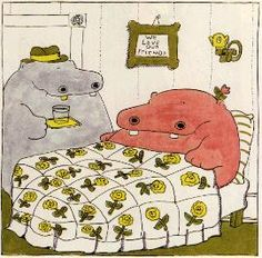 hippos, george and martha | ... collection i hope you get to know george and martha they are treasures