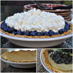 Fresh Blueberry Custard Pie