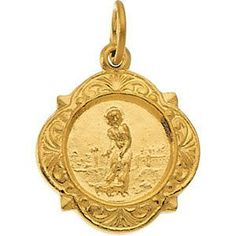 14kt Yellow Gold 12.14x12.09mm St. Lazarus Medal | 1.22 Grams | Jewelry Series: R16991