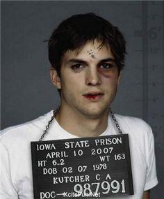 Ashton Kutcher :: Mug Shots  Celebrity Prisoners