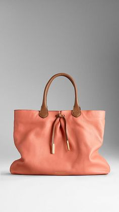 Bow Detail Deerskin Tote Bag | Burberry