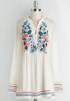 Makes it Look So Breezy Tunic | Mod Retro Vintage Short Sleeve Shirts | ModCloth.com