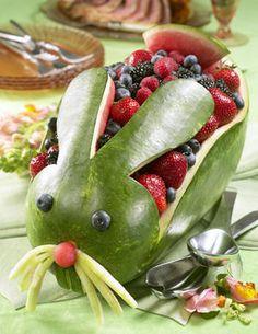 Easter bunny fruit basket