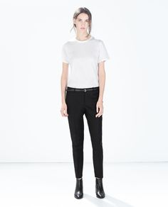 Image 1 of TROUSERS WITH BELT from Zara