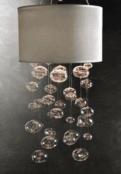 Chandelier Lantern with Hanging Glass Globes White Fabric Lantern- bet i could diy this for MUCh cheaper Black Lantern, White Lanterns, Candle Lanterns, Candles, Bubble Chandelier, Lantern Chandelier, Chandelier Lighting, Cheap Lanterns, Chandeliers