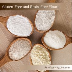 Gluten Free and Grain Free Flour Options from RealFoodMagazine.com