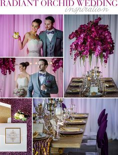 Style Unveiled - Style Unveiled | A Wedding Blog - Radiant Orchid Wedding Glamour Photography by Motley Mélange