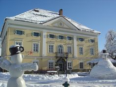 Biedermeier Schloessl Lerchenhof, built in 1848 close to the Carinthian town of Hermagor