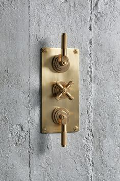 Landmark Industrial trim set for thermostatic valve in the finish urban brass