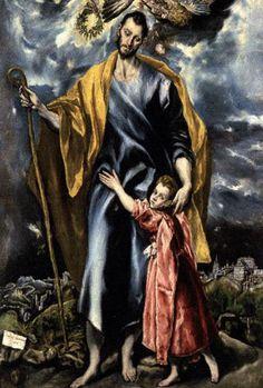 San José y el niño Jesus El Greco