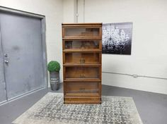 Antiques By Design - Globe Wernicke Victorian Oak Stacking Barristers Bookcase