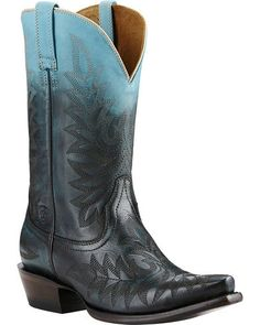 Ariat Blue Ombre Cowgirl Boots - Snip Toe | Sheplers