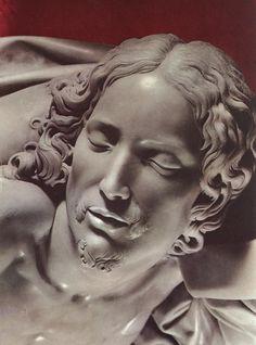 Détail du visage du Christ. Michel Ange