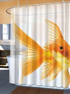 Goldzilla Giant Goldfish Peva Vinyl Shower Curtain Splash Bath http://www.amazon.com/dp/B00796OKP4/ref=cm_sw_r_pi_dp_jXYeub0RM75Z4