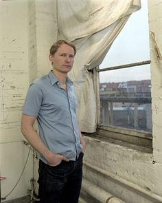 David Schnell: It's amazing how intensice colours come out of him. New Leipzig School, Coming Out, Button Down Shirt, Men Casual, Colours, It's Amazing, Portrait, Mens Tops, David