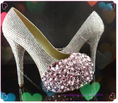 307 Best Custom Design Crystal   Pearl Shoes images  7d7257211f0d