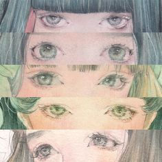 watercolor how to: eyes 目 塗り方 講座 Art Anime Fille, Anime Art Girl, Manga Art, Art Sketches, Art Drawings, Art Du Croquis, Art Mignon, Realistic Eye Drawing, Japon Illustration