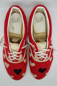 204c3d2bca5 vintage 1980 valentine s day VANS heart shoes Vans Style, Vintage Vans,  Plimsolls, Vintage