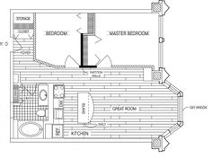Two Bedroom One Bath Floor Plan of Property Fisher Building City Apartments.  Fisher Building City Apartments, luxury apartment living in the Chicago Loop. Historic renovations with upscale studio, 1, 2, and 3 bedroom apartment homes.