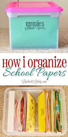 School Work Organization, Home Organization Hacks, Organizing School Papers, Organizing Tips, Organizing Kids Artwork, Teacher Storage, Learning Organization, Clutter Organization, Planner Organization