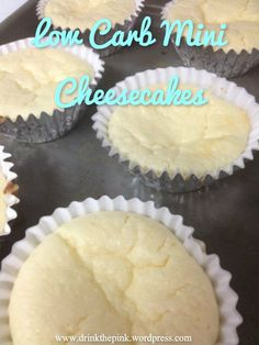 Low Carb Mini Cheesecakes #dessert #healthy