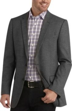 Andrew Fezza Black and White Sport Coat - Modern Fit (Trim) | Men's Wearhouse