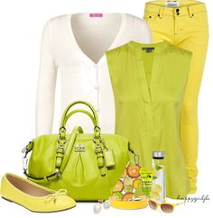 """""""LEMONS AND LIMES"""" by happygirljlc ❤ liked on Polyvore"""
