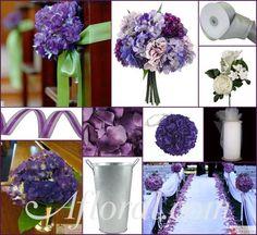 #purple wedding #purple pew decorations #afloral http://blog.afloral.com/inspiration-boards/tawanas-purple-pew-decoration-inspiration-board/