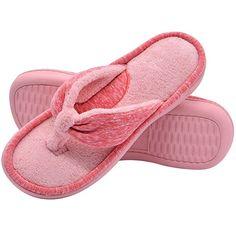 c87d4db86470 Wishcotton Women s Memory Foam Thong Slippers
