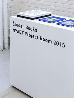 etudes-studio:  Études Books project Room [17-20 Sept]  NYABF 2015 @ MoMA PS1 Photo by Dustin Aksland