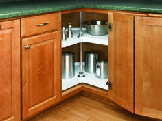 Rev-A-Shelf's polymer lazy susans are revered as the best on the market. Whether you are replacing an old unit or just adding a lazy susans to your corner cabinet, you will not be disappointed with the high quality design and the durable rotating hardware that makes installation simple.
