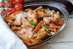 Pasta melanzane e mozzarella al forno,un primo piatto vegetariano fantastico,semplice,veloce e saporito