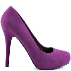 Feel the love in these perfect everyday pumps from Michael Antonio. Love Me 2 is a deep purple round toe 4 inch heel, this style is completed with a inch hidden platform. Grab a pair of these work or play heels before they're gone! Purple Stuff, Purple Love, All Things Purple, Deep Purple, Stiletto Heels, High Heels, Stilettos, Purple Heels, Thing 1