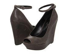 Jessica Simpson Stacys : Step out in style with these wanton wedges on your feet!  Adjustable buckle closure.  Suede or leather upper.  Open toe.  Man-made lining.  Lightly cushioned man-made footbed.  Wrapped platform and wedge heel.  Man-made sole.