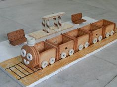 Biscuit train Courtesy: 'Sahithya' Prodhutoori Melted chocolate or jam can also be used to join Courtesy: 'Sahithya' Prodhutoori Biscuit Decoration, Thali Decoration Ideas, Decorations, Food Art For Kids, Food Carving, Wedding Plates, Chocolate Bouquet, Chocolate Box, Wedding Crafts