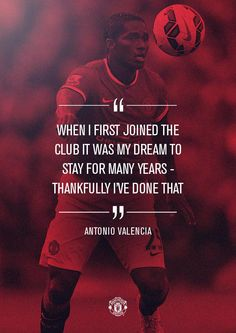 """""""Antonio Valencia celebrated his 200th #mufc appearance during yesterday's 3-0 win vs Hull."""""""
