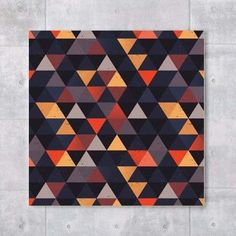 placa fall triangles