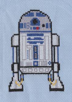 R2-D2 cross stitch by Kerry