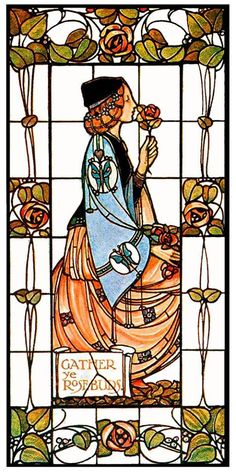 Art Nouveau Stained Glass Alex Gascoyne 1906