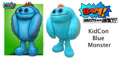 Bam Mascots - Custom Mascot Costume Designers and Manufacturers Mascot Costumes, Bambam, Concept, Kids, Blue, Fictional Characters, Design, Young Children, Boys