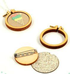 Image of DIY Miniature embroidery hoop kit