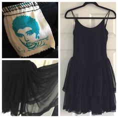 Amazing vintage Betsey Johnson dress Beautiful rare 1980's vintage punk label Betsey Johnson party dress, size large, 10-12.  Ballerina style top with low back and full layered sheer skirt.  Top is 90% cotton, 10% spandex.  Skirt is 100% polyester.  Made in the US.  Lovingly cared for and in great condition! ❤️ Vintage Dresses Prom