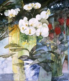 Acuarela de Shirley Trevena watercolor                                                                                                                                                     Más