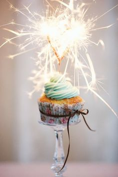 Heck yeah I'll have sparklers on my cupcakes