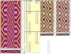 28 tarjetas, 3 colores, repite cada 16 movimientos // sed_984 diseñado en GTT༺❁