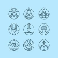 Discover more of the best Icons, Fullset, Actualpixels, Illustration, and Line inspiration on Designspiration Icons Web, It Icons, Icon Design, Web Design, Logo Design, Flat Design, Badge Icon, Simple Icon, Line Illustration
